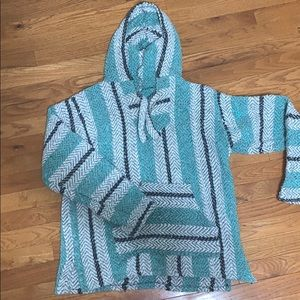 Mint and Grey Baja Pullover